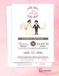 Church Invite Cards Template Free Pdf Download Couple Cartoon In Front Of Church Invitation