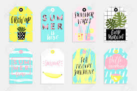 Summer Gift Tags Summer Set Of Sale And Gift Tags Labels With Fun Elements Hand