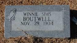 "Winnifred ""Winnie"" Sims Graham Boutwell (1904-1995) - Find A Grave Memorial"