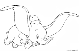 Printable coloring pages for kids dumbo shy disney characters dumbo's circus. Dumbo Fly Kids Coloring Pages Printable