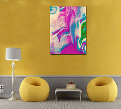 Farmed Fluoro Art Print On Canvas 26x20 Painting For Living Room