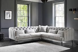 corner chesterfield sofa earl grey