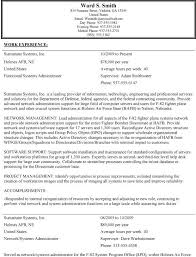 Resume Format For Government Jobs My