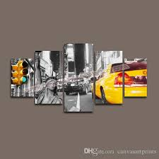 home decor canvas 5 panel canvas art of new york city wall art