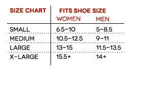 Yaktrax Pro Size Chart Yak Trax Yaktrax Run