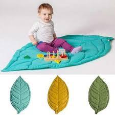maple leaf shape play mat blanket crawling kids floor activity soft carpet rug t