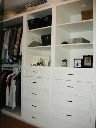 elegant white wooden closet shelving unit with storage drawers adorable closet organizers with drawers