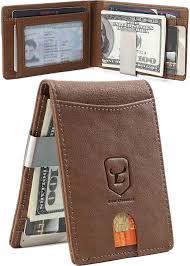 Designer Money Clip Wallet With Card Holder Money Clip Wallet Mens Genuine Leather Wallets Slim Front Pocket Rfid Blocking Card Holder Minimalist