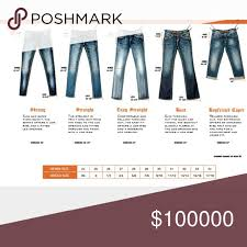 Rock Revival Size Chart Rock Revival Chart Sizing Chart Jeans In 2019 Fashion
