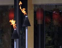 big kahuna black cone propane natural gas tiki torch