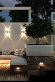 contemporary lounge lighting. Backyard - Wood Decking , White Rendered Walls And Raised Contemporary Planter Fabulous Garden/patio Lighting Lounge L