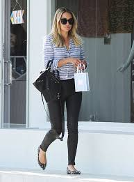 lauren conrad in j brand leather jeans