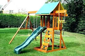 for small yards outdoor swing sets yard playsets image of space backyard best wooden smal