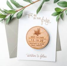 Save The Date For Wedding Save The Date Magnets Pinecone Set Of 10