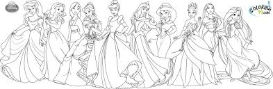 Small Picture Coloring Pages Disney Princesses Only Coloring