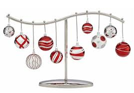 Christmas Bauble Display Stand Ornament Centerpiece by Crate Barrel Ornament Display and 2