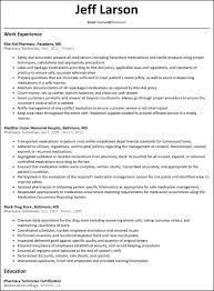 Objective For Pharmacy Resume Sample Pharmacist Resume Cover Letter