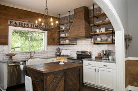 modern farmhouse kitchen design. Tuscan And Modern Blended Kitchen Cabinets Modern Farmhouse Kitchen Design O