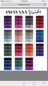 Pravana Vivids Color Chart Pravana In 2019 Pravana Hair