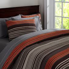 Teen Bedroom. Love the colors. Grey and white. With orange, brown ...