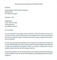 early termination of lease letter termination of lease agreement template sample pasture lease