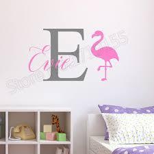 <b>YOYOYU</b> Personalised Flamingo Wall Stickers <b>Childrens Kids</b> ...