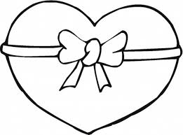 Small Picture Ribbon Heart Valentine Coloring Pages Valentine Coloring pages
