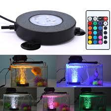 Details About Led Aquarium Fish Tank Air Stone Light 16 Colors Changing Air Bubble Waterproof