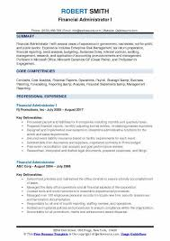 Sample Financial Reports New Financial Administrator Resume Samples QwikResume