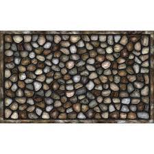 Apache Mills River Rocks 18 in. x 30 in. Recycled Rubber Door Mat