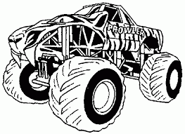Coloring Pages Monster Truck Coloring Pages El Toro Loco Page Free