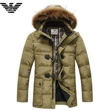 jackets men armani wintejas with 5qk7qa hood bontkraag geel 2016 clearance