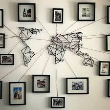 metal wall art world map amazon