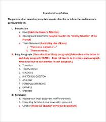 expository essay template word pdf documents  expository essay outline template middle school