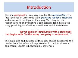 opening paragraph for essay  wwwgxartorg connection between paragraph and essay introduction