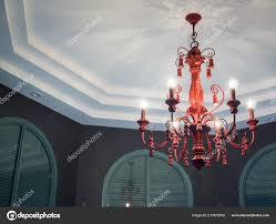 Klassische Vintage Kristall Kronleuchter Lampe Der Weißen