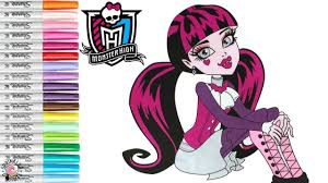 monster high coloring pages draculaura. Delighful Draculaura Monster High Coloring Book Pages Draculaura Colouring MH  SPRiNKLED DONUTS Intended G