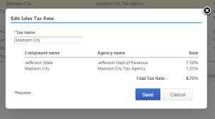 Combining Sales Tax Rates Experts In Quickbooks