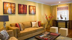 Orange Decorations For Living Room Painting Living Room Orange Yellow Nomadiceuphoriacom