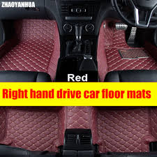 ZHAOYANHUA Right hand drive car car floor mats for Toyota Camry ...