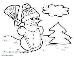 Free Christmas Coloring Printables Gingerbread Man Coloring Sheets