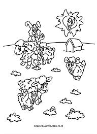 Kleurplaat Lente Schaapjes Lammetjes Dieren