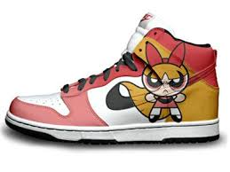 nike shoes high tops for girls. nike the powerpuff girls high tops dunk custom 3 packs shoes for r
