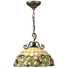 Tiffany Kitchen Lighting Dale Tiffany Grape Hanging Light 16w In Bronze Pendant Lights