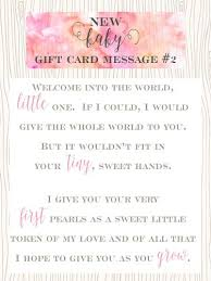 Welcoming Baby Girl 10 Sweet Messages For New Baby Girl Gift Cards Little Girls Pearls
