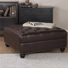 Good The Hastings Brown Tufted Faux Leather Ottoman Will Complete The Look In  Your Living Room, Den, Or Office Space. This Accent Piece Boasts A Rich  Brown Faux ... Photo Gallery