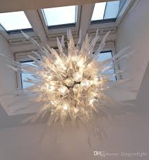 hand blown glass chandelier pendant lamps antique murano glass crystal chandelier with ac 110v 240v led bulbs superior quality new arrival drum shade
