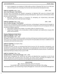 Asset Management Resume Example Pertaining To Asset Management