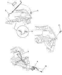 4717517ac genuine mopar latch hood latch chrysler town and country bushing diagram