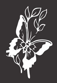Flower And Butterfly Stencil Designs Amazon Com Barking Sand Designs Flower Butterfly Die Cut